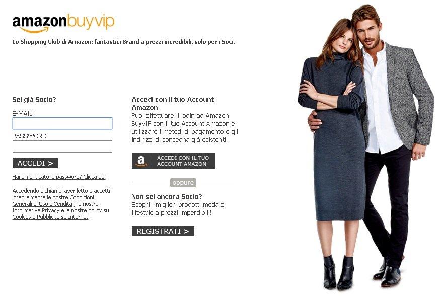 Amazon Buy VIP registrazione