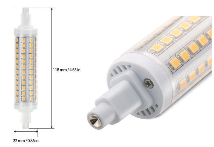 R7s LED 11.8 cm esempio