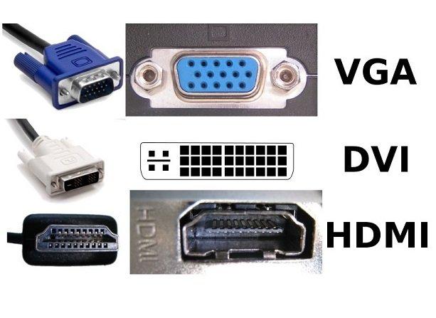 Connessioni video VGA - HDMI - DVI